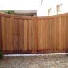 portail bois padouck maison automatisé allée de garage croisillons portail moderne portail classique
