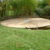 Terrasse arrondie sur mesure en bois ipé courbe jardin menuiserie sur mesure Wavre maison moderne travaux harchitecte de jardin mt design perwez