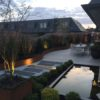 terrasse en bois sur mesure waterloo éclairage mélange bois et pierre terrasse en bois arrondie terrasse en bois wavre étang de jardin