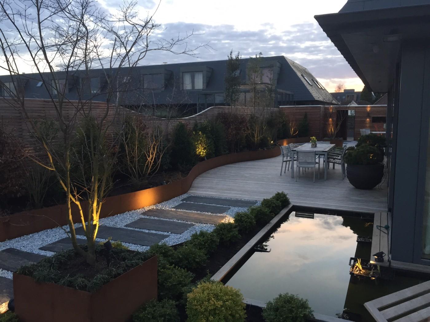 Terrasse Mélange Bois Et Pierre terrasse en bois sur mesure waterloo éclairage mélange bois
