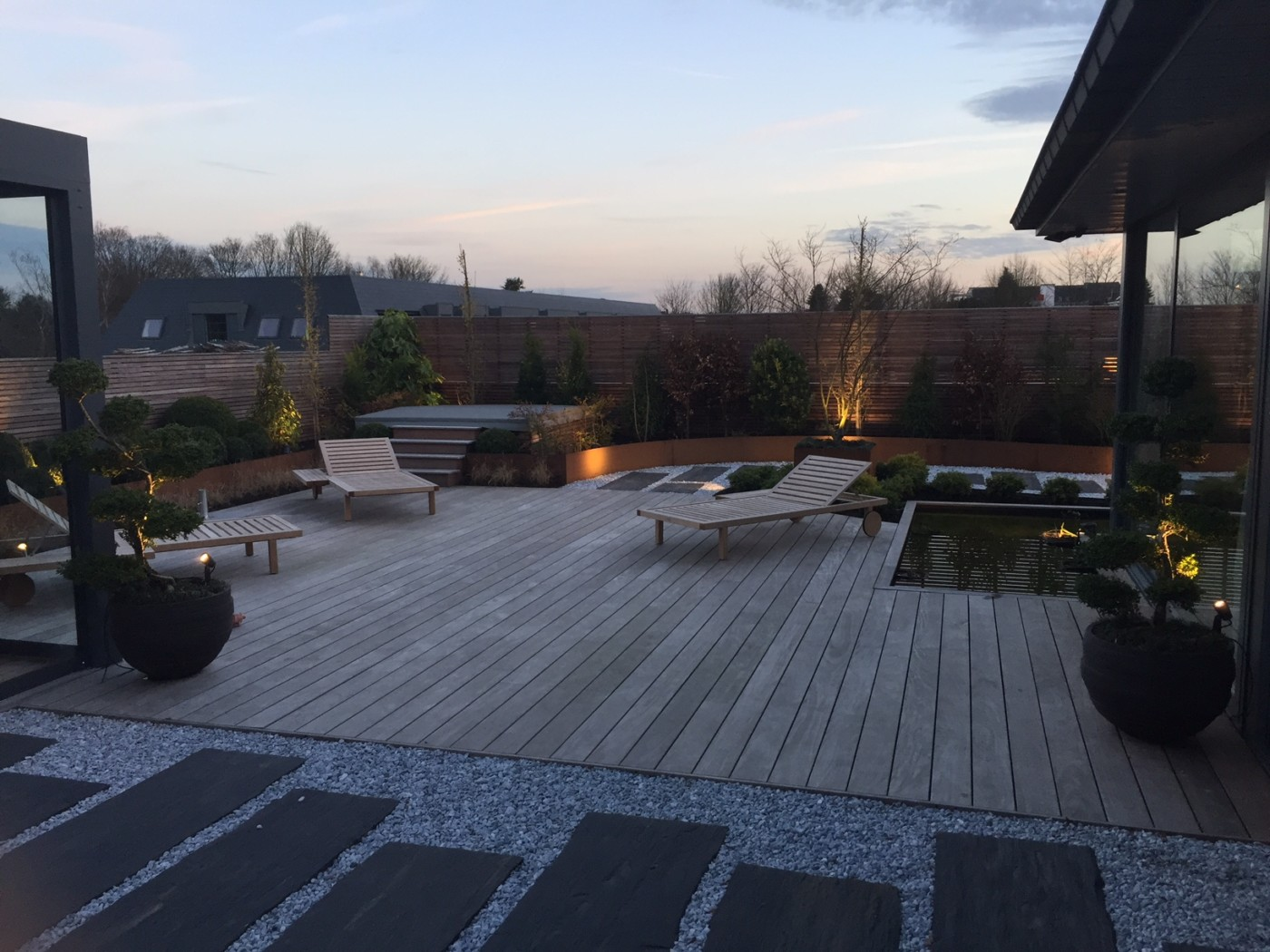 Terrasse pierre et bois terrasse pierre et bois les plus - Terrasse en pierre ...