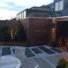 terrasse en bois sur mesure waterloo éclairage mélange bois et pierre terrasse en bois arrondie