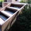 escalier a claire voie buisson et terrasse wavre