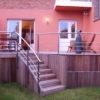 escalier d'acces a la terrasse sur mesure avec garde corps en inox a wavre