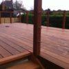 garde-corps terrasse carrée moderne ipe bois exotique cable inox pilotis haut wavre