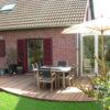terrasse arrondie dans un jardin de wavre terrasse en ipe brabant wallon