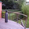 terrasse arrondie en ipe sur mesure bois exotique jardin terrasse sur pilotis haut