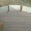 terrasse en bois exotique a perwez avec garde corps avec cables eclairage integre chaise et table en bois de waterloo