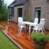 terrasse en bois et moderne rectangulaire de perwez le bois mouille plantation applique maison classique