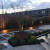 terrasse en bois sur mesure waterloo éclairage mélange bois et pierre terrasse en bois arrondie plantation étang terrasse wavre