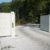 Portail Blanc bois porte ouvrante grand beau mt design moderne Chastre