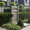 Portails Brun bois porte ouvrante grand beau mt design moderne Chastre