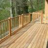 Terrasse en bois grande balcon brun Wavre