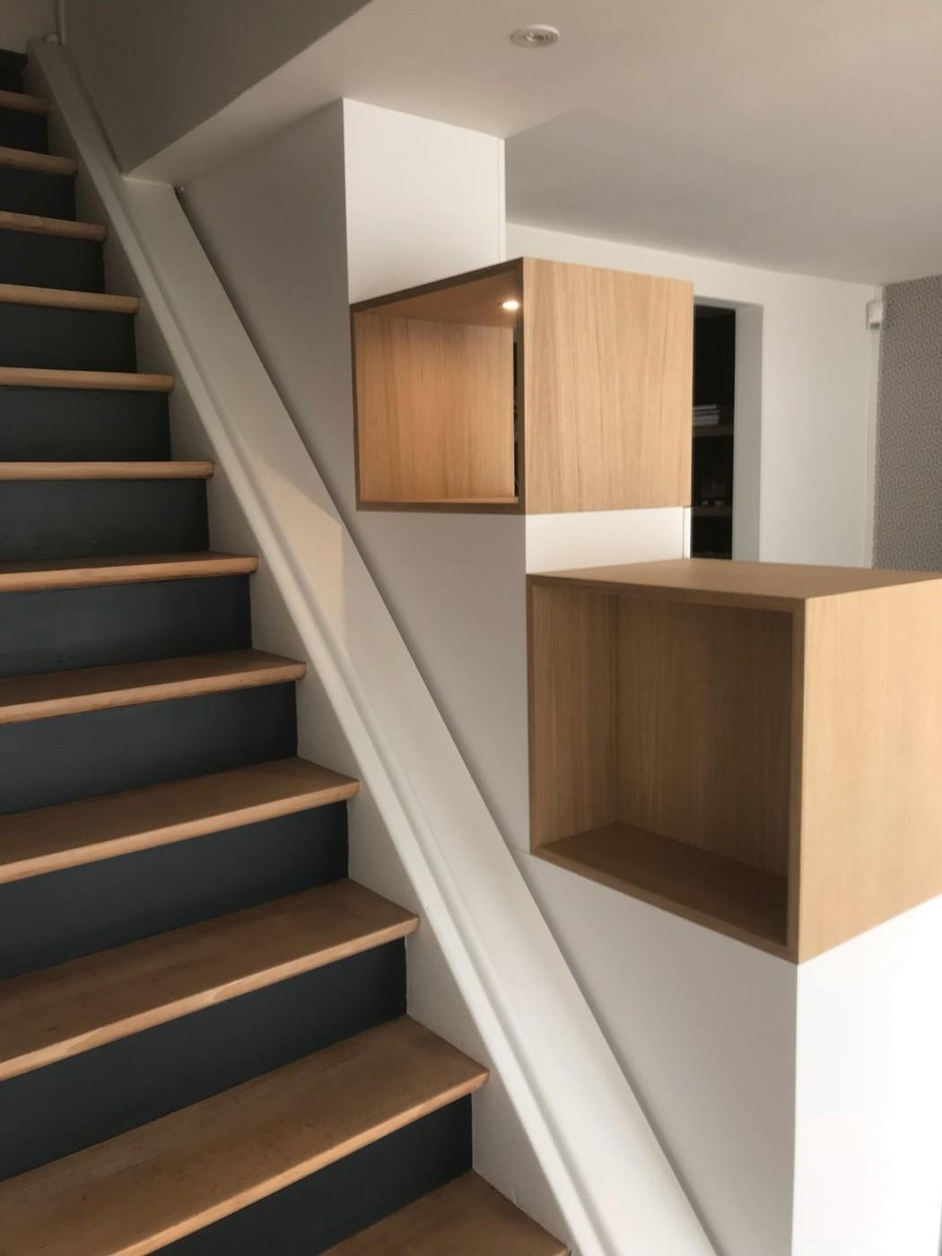 meuble escalier cool meuble escalier with meuble escalier. Black Bedroom Furniture Sets. Home Design Ideas