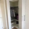 Dressing en coin sur mesure walhain meuble sol plafond meuble ouvert