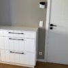 console blanche avec style classique et tiroir soft close. meuble sur mesure walhain