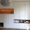 aménagement villa contemporaine mobilier sur mesure rixensart meuble salle de bain suspendu claustra dressing