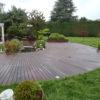 terrasse en bois fraichement nettoyée à l'aide de la technique wood wash de chez mt design