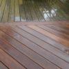 nettoyage avant après d'une terrasse en bois