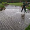 nettoyage en court d'une terrasse ronde à lasne